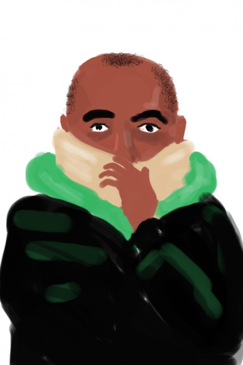 picture of a man in a scarf