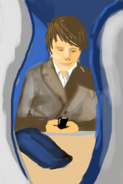 picture of a woman texting