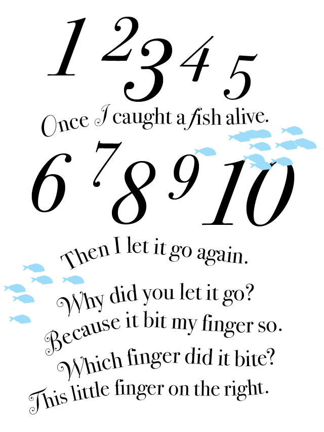 First i caught a fish alive the illustrationist for The fish poem