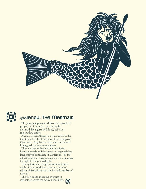 African Mythical Creatures: Jengu, the Mermaid © Ken Wilson-Max 2013